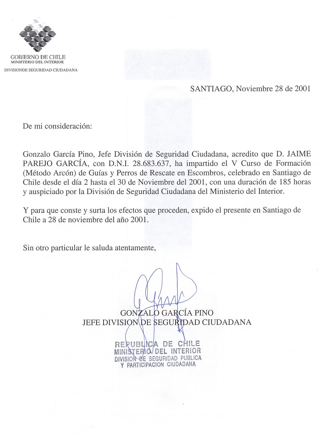 Carta De Honorabilidad