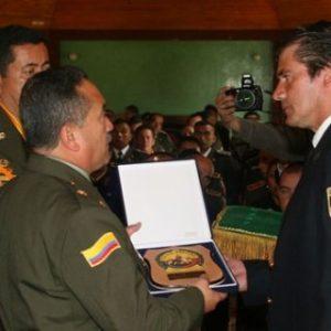 La Policía Nacional de Colombia galardonó a Jaime Parejo